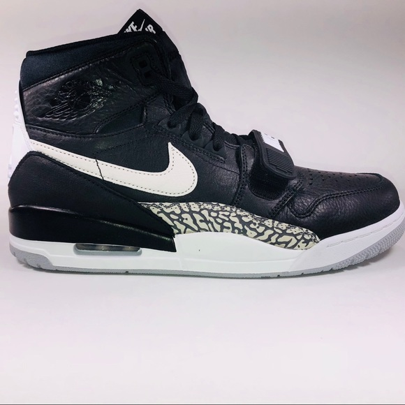 buy online e11d4 5bf3d Air Jordan Legacy 312 Don C Black Cement Sneakers NWT